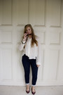 Ivory-chiffon-unknown-t-shirt-navy-printed-pants-loft-pants
