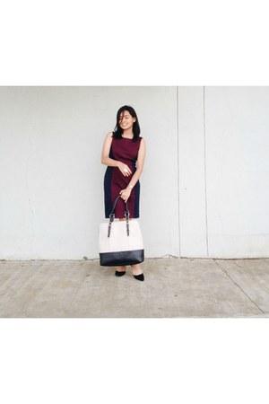 crimson Jones New York dress - eggshell Wilson Leather bag