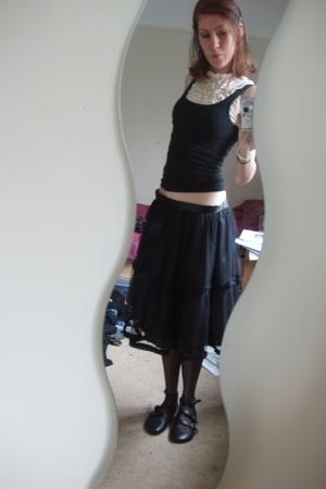top - tights - skirt