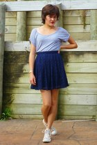 navy lace skirt Sportsgirl skirt - jeanswest t-shirt - chucks Converse sneakers