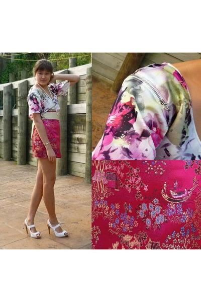 self made top - self made skirt - Just jeans belt - Pulp heels