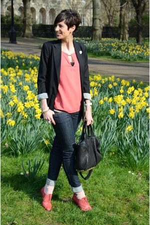 Paul Smith shoes - Diesel jeans - Guess blazer - Zara shirt - Alexander Wang bag