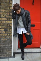 Zadig & Voltaire boots - Guess jacket - silvian heach sweater - Topshop leggings