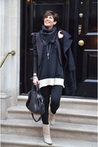 Alexander Wang bag - Guess boots - H&M blazer - Louis Vuitton scarf