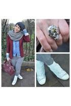 Guess shirt - Zara blazer - Cinzia Araia sneakers
