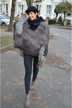 SuperTrash coat - Urban Outfitters hat - Calzedonia leggings