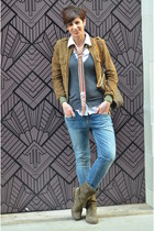 Fiorentini & Baker boots - Guess jeans - Louis Vuitton bag - Guess blouse
