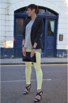 light yellow Zara jeans - silver Phillip Lim sweater - Zara blazer
