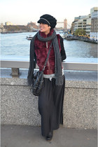 Guess vest - Ugg boots - Topshop skirt