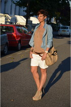 calvin klein bag - Guess shorts - Zara wedges