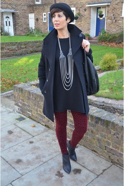 maison martin margiela boots - Guess coat - Zara leggings