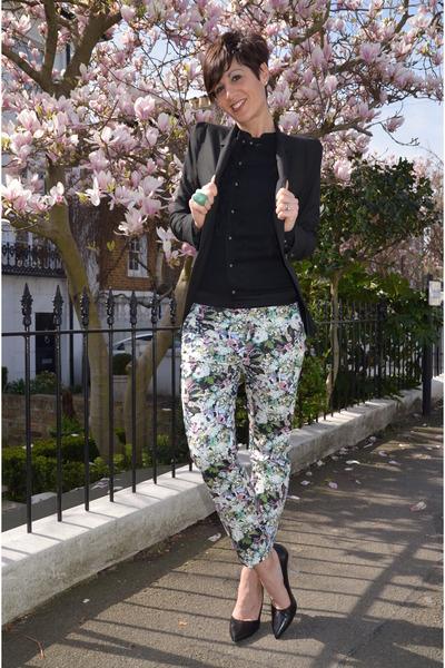 Zara pants - Zara blazer - Guess shirt - Zara heels