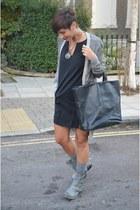 Diesel cardigan - Jeffrey Campbell boots - Zara dress - calvin klein bag