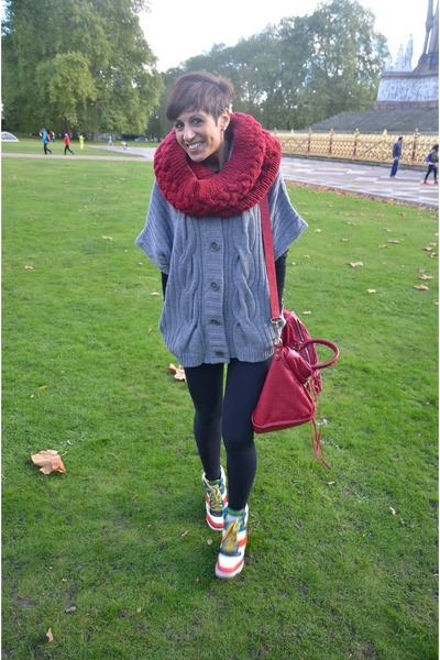 Accessorize scarf - calvin klein sweater - Calzedonia leggings - balenciaga bag