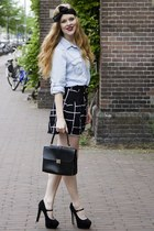 black viktor & rolf for h&m scarf - black vintage bag - black Monki shorts - lig