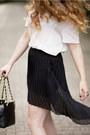 Black-zara-skirt-black-chanel-bag-white-h-m-trend-blouse