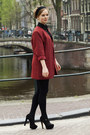 Ruby-red-vintage-blazer-navy-levis-shorts-black-versace-for-h-m-blouse