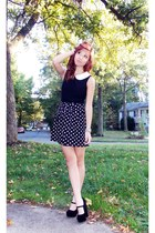 polka dot Forever21 skirt