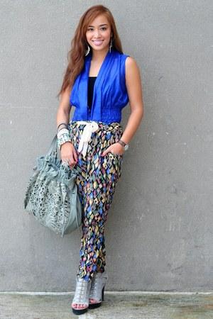 gray heels Highstylefancy shoes - blue Details top
