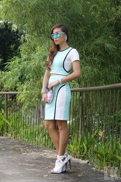 white Topshop heels