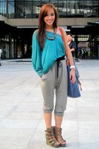 jogging Topshop pants - olive green privileged Fivebyfive shoes