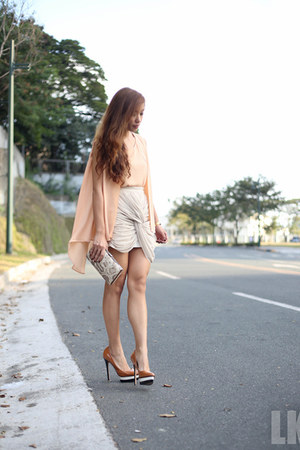 brown Zara heels