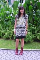 Pink Manila dress - cutesygirlcom shoes - earrings -