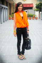 black razo heels michael antonio shoes - black Stylebreak jeans