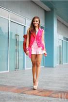 hot pink Forever 21 vest