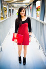 Red-bought-online-dress-black-bought-online-shoes-red-anthology-accessories-