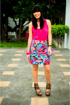 Sugar High Poisonberry skirt - brown strappy cutesygirlcom shoes