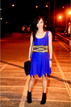dress - Glitterati belt - Charles and Keith shoes - Mango accessories