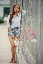 blue Zara shorts
