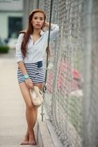 blue Zara shorts
