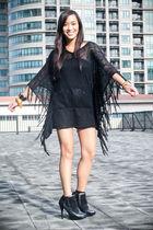 black lovevintage dress - black bought online shoes