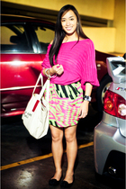 pink Summersault sweater - green Urban Juncture skirt - black random brand shoes
