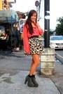 Pink-la-manila-top-forever-21-skirt-gray-soule-phenomenon-black-random-bra