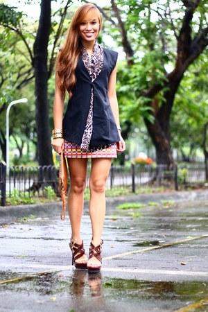 dark brown heels Pedro shoes