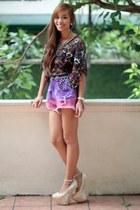 purple Bubbles shorts