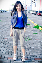 blue The Ramp blazer - gray Topshop pants - white bought online shoes