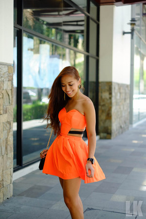 orange Van Vogue Manila dress