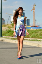 sky blue Sheinside dress