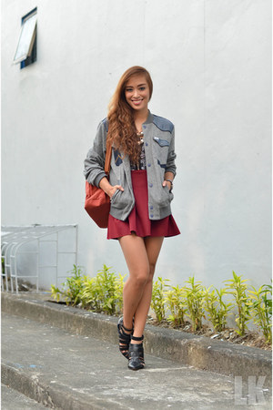 heather gray Wrangler jacket