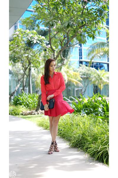 brown Zara heels