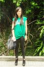 Green-dlsu-shirt-black-trunk-show-leggings-black-topshop-shoes-black-pbj-p