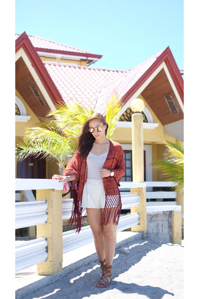 brown Forever 21 cardigan