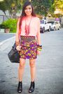 Pink-glitterati-top-purple-rockwell-bazaar-skirt-black-glitterati-belt-bla