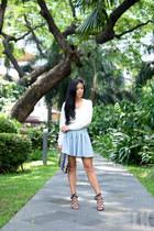 light blue H&M skirt