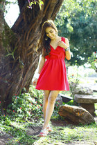 hot pink Plains and Prints dress