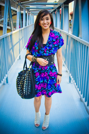 purple from a bazaar dress - white bought online shoes - black peanutbutter and
